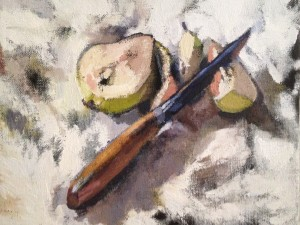 Anna Liljas Pear and knife 2