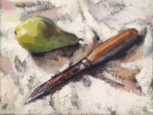 Anna Liljas pear and knife