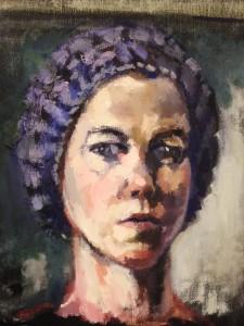Anna Liljas selfportrait